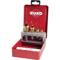 RUKO Querlochsenkersatz 2-5/5-10/10-15/15-20mm HSS-TiN 5tlg.Metallkass.RUKO