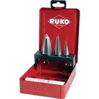 RUKO Blechschälbohrersatz 3-14/5-20/16-30,5mm HSS Z.3 4tlg.Metallkass.RUKO