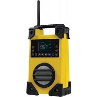Baustellenradio 7,4 V/1500 mAh AC 100-240 V,50/60 HZ DC 9 V/600 mA