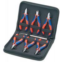 KNIPEX Elektronikzangensatz 7-tlg.6 Zangen,1 Präzisionspinzette KNIPEX