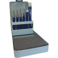 PROMAT Werkzeugsatz Inh.6tlg.Chrom-Vanadium-Lufthärtestahl lack.Metallkassette PROMAT