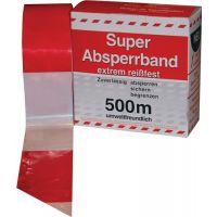 KELMAPLAST Absperrband L.500 m B.80mm rot/weiß geblockt 500m/Karton