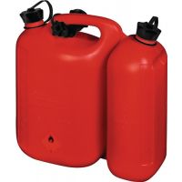 HÜNERSDORFF Kraftstoffdoppelkanister Inh.5,5+3l rot HDPE