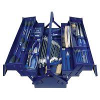 Werkzeugsortiment 60-tlg.im Stahlblechkasten inklusive Spannungsprüfer