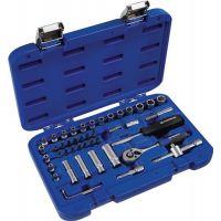 PROMAT Steckschlüsselsatz 48-tlg.1/4 Zoll SW 4-13mm Z.72 6KT Ku.-Kassette PROMAT