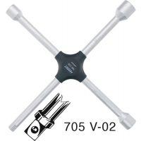 HAZET Kreuzschlüssel 705 17x19x22x12,5(1/2Zoll 4-kant) L380 mmxB380mm HAZET