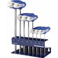 PROMAT Stiftschlüsselsatz 8-tlg.SW 2-10 m.Quergr.im Werkbankständer PROMAT