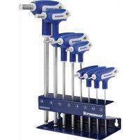 PROMAT Stiftschlüsselsatz 8-tlg.SW 2-10 Quergriff,Kugelkopf,Seitenabtrieb
