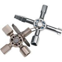 KNIPEX Schaltschrankschlüssel TwinKey® 6 Funktionen m.Magnet Verb.KNIPEX