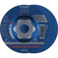 PFERD Schruppscheibe CC-GRIND-SOLID SG INOX D125xSmm gekr.INOX PFERD