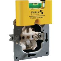 STABILA Wasserwaage Pocket Electric 6,8cm Ku.gelb ± 1mm/m m.Magnet STABILA