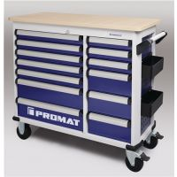 PROMAT Rollwerkbank PLUS Außen-B1150xT500xH1015mm Schubl.13 30kg 500kg PROMAT