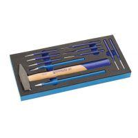 PROMAT Werkzeugmodul 11-tlg.1/3-Modul Meißel,Splintentreiber PROMAT