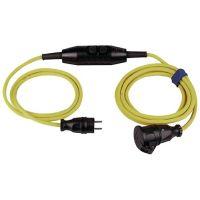 Schutzkontaktverlängerung 16 A 230 V 4,5m H07RN-F 3x1,5 mm² gelb