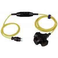 Schutzkontaktverlängerung 16 A 230 V 4,5m H07RN-F 3x1,5 mm² gelb IP44