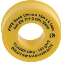 GEKA PTFE Dichtband GRp L12m B12mm D0,1mm 100g/m² Rl.GEKA