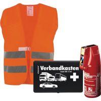 KFZ-Sicherheitspaket Set besthend aus Feuerlöscher, Warnweste, Verbandkasten