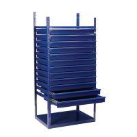LOGS Schubladenelement LOGS 90 H1160xB540xT390mm 12 Schubl.blau RAL 5022 LOGS