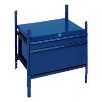 LOGS Schubladenelement LOGS 100 H520xB540xT390mm 2 Schubl.abschl.blau RAL 5022 LOGS