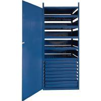 LOGS Schrank m.Tür LOGS 145 H1550xB540xT390mm 8 Schubl.5 Fbd.blau RAL LOGS