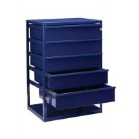 LOGS Thekenschrank LOGS 190 H795xB540xT390mm 5 Schubl.Fbd.blau RAL 5022 LOGS