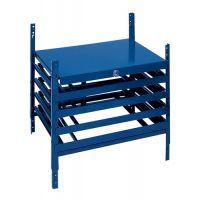 Schubladenelement LOGS 220 H520xB540xT390mm 4 Schubl.abschl.f.Kästen blau