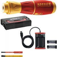WIHA Schraubendreherset speedE® II electric 6-tlg.Akku Schlitz/(+/-Schlitz/PZD) WIHA