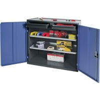 PROMAT Werkzeug-/Beistellschrank H1000xB1000xT500mm 2 Schubl.,2 BD grau/blau NCS PROMAT