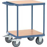 PROMAT Tischwagen 2 Ladeflächen L600xB600mm taubenblau Trgf.500kg PROMAT
