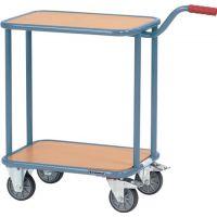 PROMAT Griffroller L600xB450mm 2 Holzwerkstoffplattformen taubenblau Gesamt-Trgf.250kg