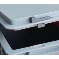 LOCKWEILER Schiebeverschluss grau f.Transport- u.Stapelbehälter 10 St./Beutel