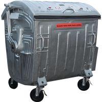 SULO Müllgroßbehälter 1,1 m³ Stahlbl.TZN fahrbar,n.DIN EN 840-3 SULO