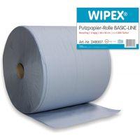WIPEX Putztuch Basic-Line L360xB380ca.mm blau 3-lagig 1 Rolle/ VE WIPEX