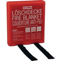 GLORIA Löschdecke DIN EN 1869:2001 L1800xB1200mm silikonbesch.Glasfasergew.m.Hardbox