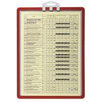 DURABLE Infotafel DIN A4 m.Profilrahmen rot z.Aufhängen 5St./Btl.DURABLE