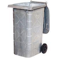 OPV Müllgroßbehälter 240l Stahlbl.TZN fahrbar