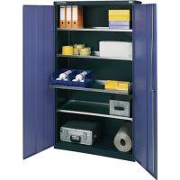 PROMAT Werkzeugschrank H1800xB1000xT500mm grau/blau NCS 4 Fachböden PROMAT