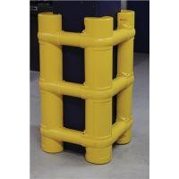 DANCOP Säulen- u.Pfostenschutz H.1000mm f.Pfostenmaß 200-700mm PE gelb