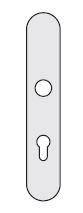 Türbeschläge Profilzylinder Lochung